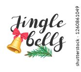 jingle bells. lettering with a... | Shutterstock .eps vector #1260861049