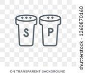 salt and pepper shakers icon.... | Shutterstock .eps vector #1260870160