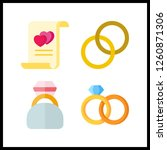 4 engagement icon. vector... | Shutterstock .eps vector #1260871306