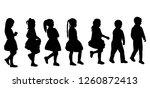 black silhouette of a girl...   Shutterstock .eps vector #1260872413