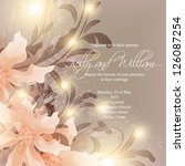 invitation or wedding card with ... | Shutterstock .eps vector #126087254