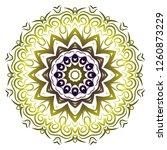 modern decorative floral... | Shutterstock .eps vector #1260873229