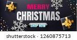 merry christmas sale banner or... | Shutterstock .eps vector #1260875713