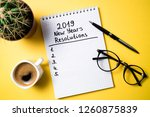 new year resolution 2019 on... | Shutterstock . vector #1260875839