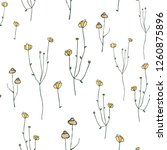 floral simple seamless pattern. ...   Shutterstock .eps vector #1260875896