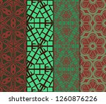 set of ornament with geometric... | Shutterstock .eps vector #1260876226