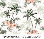 beautiful tropical vintage... | Shutterstock .eps vector #1260882640