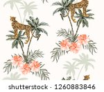 beautiful seamless vector... | Shutterstock .eps vector #1260883846