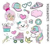 beautiful little fairy  unicorn ... | Shutterstock .eps vector #1260890836