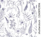 natural seamless pattern with... | Shutterstock .eps vector #1260892306