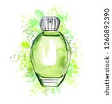 hand drawn sketch with green...   Shutterstock . vector #1260892390
