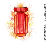hand drawn sketch with red...   Shutterstock . vector #1260892396