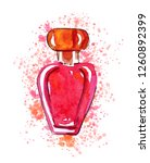 hand drawn sketch with red...   Shutterstock . vector #1260892399