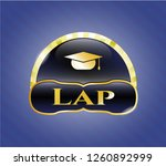 golden emblem with graduation... | Shutterstock .eps vector #1260892999