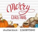 merry christmas. festive... | Shutterstock .eps vector #1260895840
