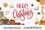 merry christmas. festive... | Shutterstock .eps vector #1260895843