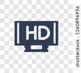 hd icon. trendy hd logo concept ... | Shutterstock .eps vector #1260896956