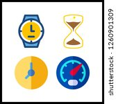 4 dial icon. vector... | Shutterstock .eps vector #1260901309