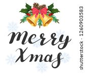 merry xmas. lettering with... | Shutterstock .eps vector #1260903583