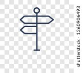 crossroad sign icon. trendy... | Shutterstock .eps vector #1260906493