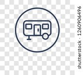 caravan sign icon. trendy...   Shutterstock .eps vector #1260906496