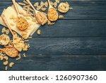 various pasta on spoons | Shutterstock . vector #1260907360
