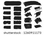 collection of hand drawn grunge ... | Shutterstock .eps vector #1260911173