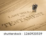 last will and testament  ... | Shutterstock . vector #1260920539