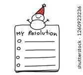 a new year s resolution. to do...   Shutterstock .eps vector #1260923236