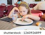 portrait of five years old... | Shutterstock . vector #1260926899