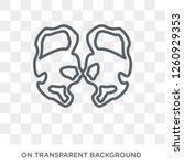 huntington's disease icon.... | Shutterstock .eps vector #1260929353