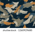 seamless brushstroke camouflage ... | Shutterstock .eps vector #1260929680