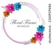 floral frame water color design   Shutterstock .eps vector #1260929686