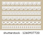 set of vintage cotton lace... | Shutterstock .eps vector #1260937720