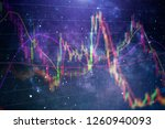 forex glowing graphs of... | Shutterstock . vector #1260940093