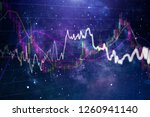 stock market graph on led... | Shutterstock . vector #1260941140