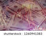 forex glowing graphs of... | Shutterstock . vector #1260941383