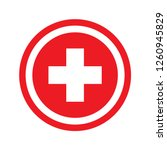 medical cross in red circle... | Shutterstock .eps vector #1260945829