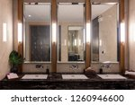 row of modern marble ceramic... | Shutterstock . vector #1260946600
