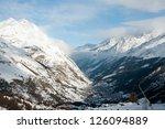 Snow Covered Houses In Zermatt...