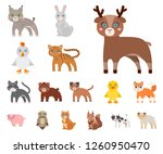 toy animals cartoon icons in... | Shutterstock .eps vector #1260950470