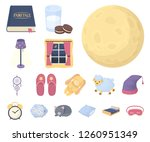 rest and sleep cartoon icons in ... | Shutterstock .eps vector #1260951349