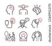 alzheimer's disease and... | Shutterstock .eps vector #1260951370