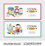 set of web banner templates... | Shutterstock .eps vector #1260951499