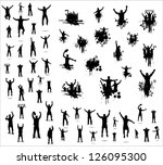set of poses from fans for... | Shutterstock .eps vector #126095300
