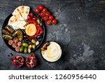 arabic traditional cuisine....   Shutterstock . vector #1260956440