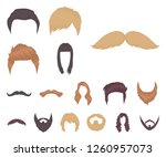 mustache and beard  hairstyles... | Shutterstock .eps vector #1260957073