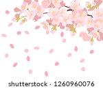 cherry illustration  background ... | Shutterstock .eps vector #1260960076