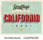 vintage touristic greeting card ... | Shutterstock .eps vector #126096200