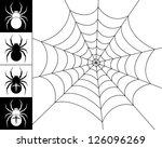 Cobweb Spider On A White...